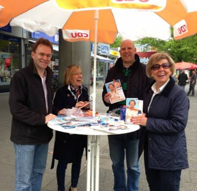 Info Stand in Groß Borstel -